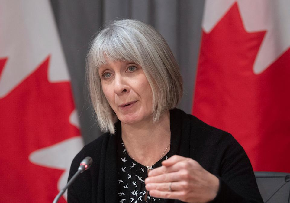 Health Minister Patty Hajdu responds to a question during a news conference on the COVID-19 virus in Ottawa on March 23, 2020. (Photo: Adrian Wyld/CP)