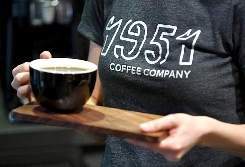 The 1951 Coffee Company in Berkeley, California trains its refugee employees for a career in the coffee industry, says co-founder Rachel Taber (AFP Photo/Josh Edelson)