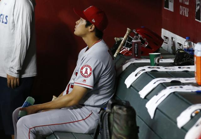 Shohei Ohtani likely won't be seeing the mound for the Angels anytime soon. (AP Photo)