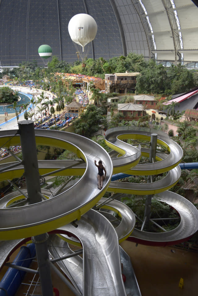 This water park is home to the largest indoor rainforest on earth . Berlin, Genuary 24, 2016.