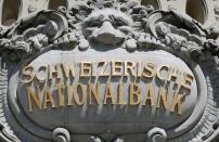 FILE PHOTO: Swiss National Bank logo is pictured on SNB building in Bern