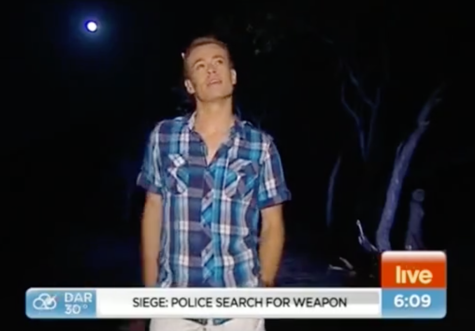 Old footage emerged following his Gold Logie win, showing him in a Sunrise segment in 2013, at the height of his painkiller addiction. Photo: Channel Seven