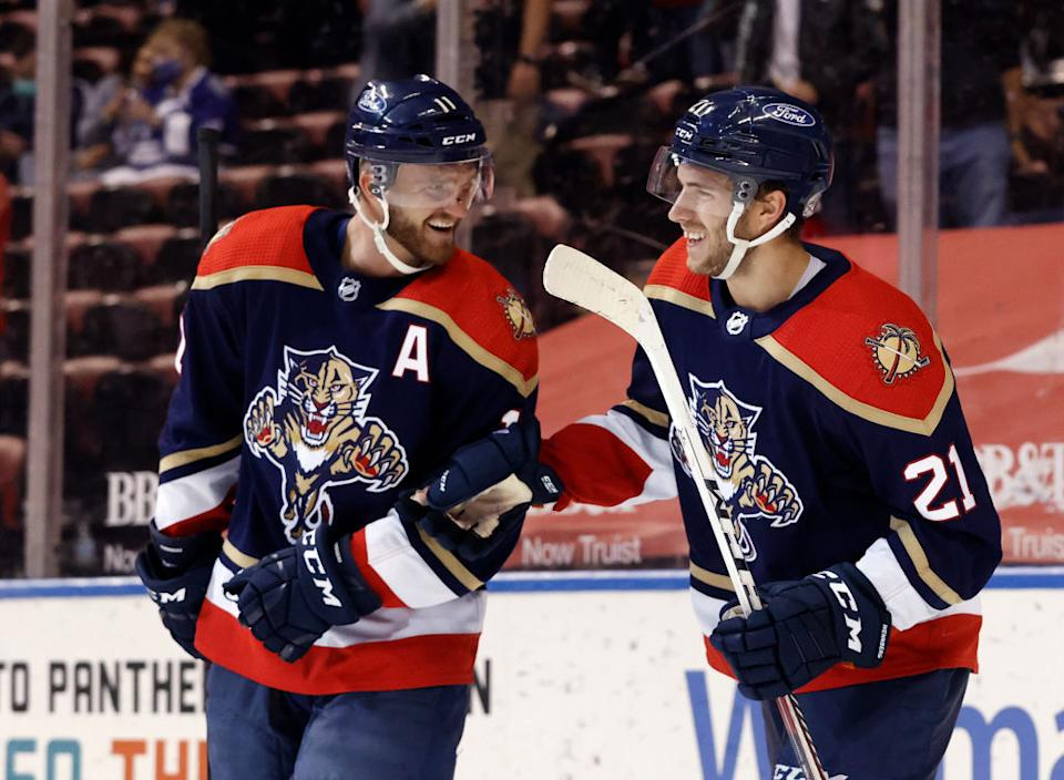 Jonathan Huberdeau has people believing in the Panthers this season — even heading into a first-round series with the defending champion Lightning. (Getty)