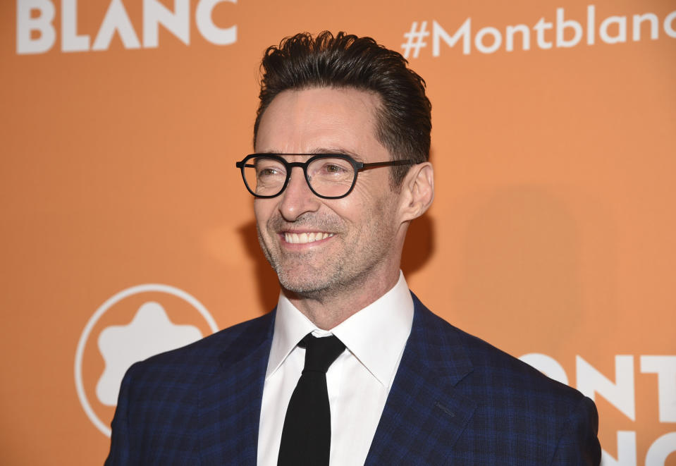 Actors Hugh Jackman attends the Montblanc MB 01 Smart Headphones and Summit 2+ launch party World of McIntosh Townhouse on Tuesday, March 10, 2020, in New York. (Photo by Evan Agostini/Invision/AP)