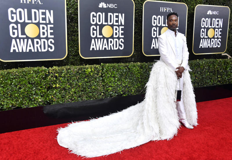 Billy Porter's Golden Globes 2020 entrance is sure to go down in the fashion history books [Photo: Getty]