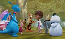 """<p>""""Into the Hundred Acre Wood!"""" is the one-hundred and eighth episode of the Disney Junior animated series Doc McStuffins and featured Winnie, Tigger, Piglet and friends meeting the Doc and Toys of McStuffinsville. </p>"""