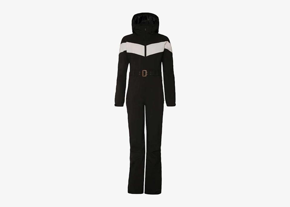 """Simple, classic, and affordable, this ski suit from Dutch brand Protest is one you'll be excited to pull out of storage for winters to come. It might not have the playfulness of some of the other suits on this list, but the breathable, waterproof, and windproof design will keep you toasty without any fuss. The understated style of this ski suit means it's one of the best choices for urban adventurers who'd rather blend in with the crowd than stick out like a sore (but very, very stylish) thumb. $313, Protest. <a href=""""https://www.protest.eu/en/gb/product/women/ski-wear-snowboard-wear/snowsuits/retros/4650502_290/"""" rel=""""nofollow noopener"""" target=""""_blank"""" data-ylk=""""slk:Get it now!"""" class=""""link rapid-noclick-resp"""">Get it now!</a>"""