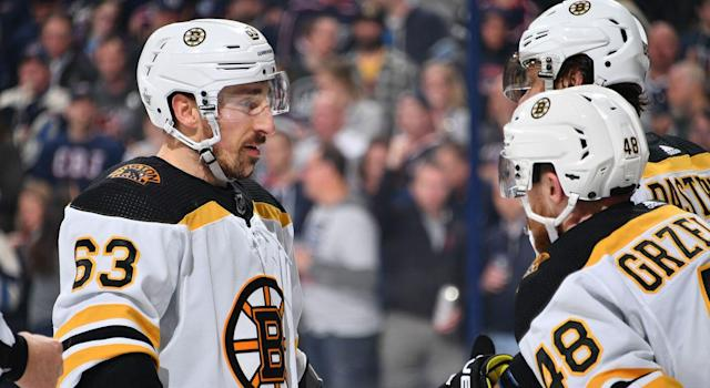Brad Marchand is back to his old tricks. (Getty)