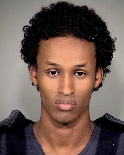 FILE - This file image released Nov. 27, 2010, by the Multnomah County Sheriff's Office shows Mohamed Osman Mohamud.   Testimony from an undercover agent who posed as an al-Qaida recruiter continues Tuesday, Jan. 15, 2013, in the trial of Mohamud. A second man, who posed an an AQ bomb expert, is also expected to testify. (AP Photo/Multnomah County Sheriff's Office, file)