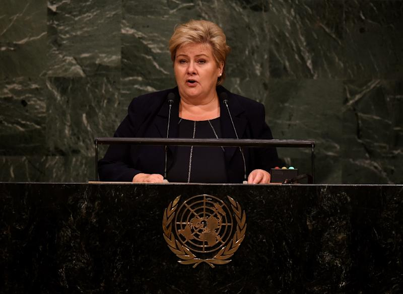 Norway's Prime Minister Erna Solberg fears the migrant crisis could endanger Europe's borderless Schengen zone