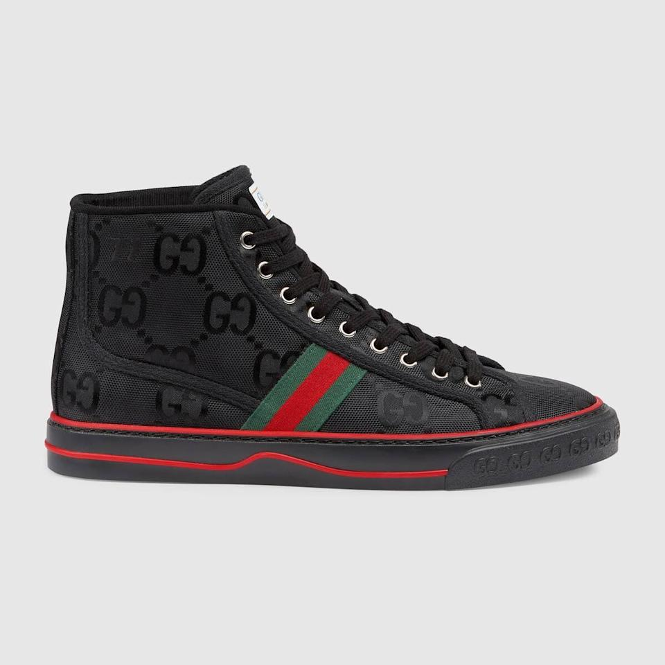 "<p><a href=""https://www.popsugar.com/buy/Gucci-Men-Gucci-Off-Grid-High-Top-Sneaker-584675?p_name=Gucci%20Men%27s%20Gucci%20Off%20the%20Grid%20High%20Top%20Sneaker&retailer=gucci.com&pid=584675&price=730&evar1=fab%3Aus&evar9=47573194&evar98=https%3A%2F%2Fwww.popsugar.com%2Ffashion%2Fphoto-gallery%2F47573194%2Fimage%2F47573299%2FGucci-Men-Gucci-Off-Grid-High-Top-Sneaker&list1=gucci%2Ceco%20fashion&prop13=mobile&pdata=1"" class=""link rapid-noclick-resp"" rel=""nofollow noopener"" target=""_blank"" data-ylk=""slk:Gucci Men's Gucci Off the Grid High Top Sneaker"">Gucci Men's Gucci Off the Grid High Top Sneaker</a> ($730)</p>"