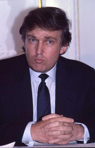 PHOTO: Donald Trump at a press conference to mark the launch of his Trump Shuttle airline on June 8, 1989, at the Plaza Hotel in New York.X (Walter McBride/AP, FILE)