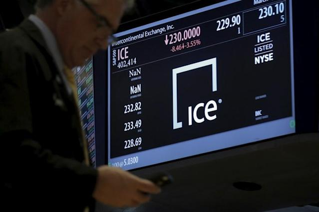 <p>Intercontinental Exchange<br> Industry: Securities<br> Fortune 500 Rank: 437<br> Revenues: $5,958,000,000<br> (Reuters) </p>