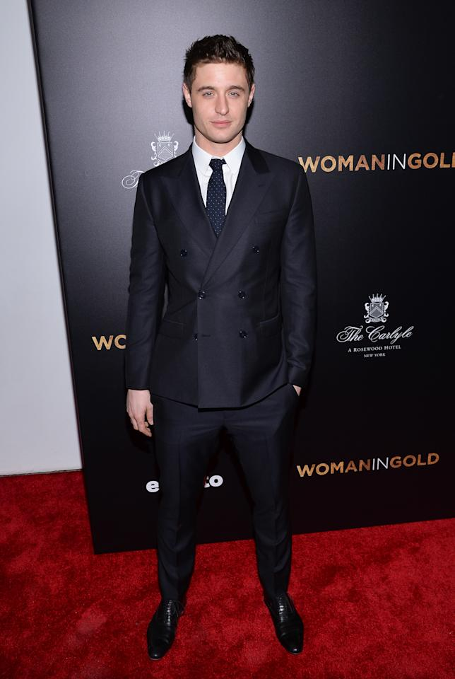 "Actor Max Irons attends the premiere of ""Woman In Gold"" at The Museum of Modern Art on Monday, March 30, 2015, in New York. (Photo by Evan Agostini/Invision/AP)"