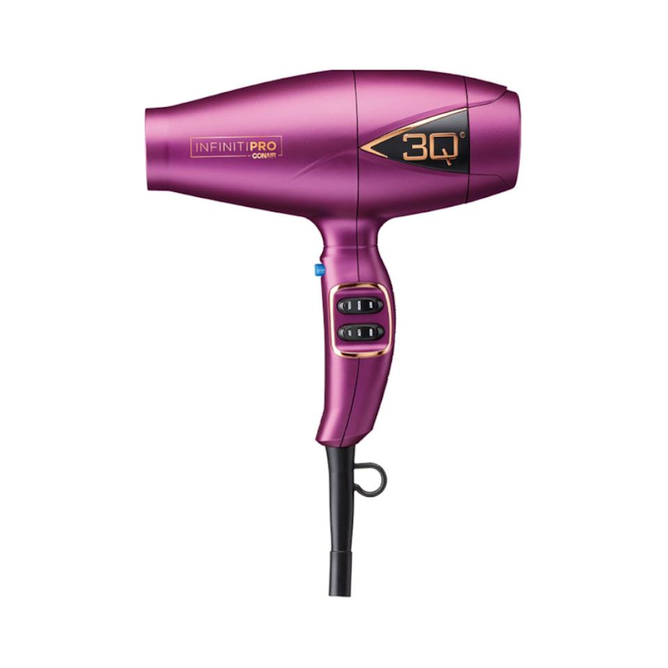 "<p>The dryer behind the VS models' flawless blowouts boasts heat-protecting technology that dries hair quickly without damaging it. ""It's really lightweight, which helps when you're working the hair because it doesn't weigh down your arm,"" said Turner about his go-to dryer.<br /><strong><a rel=""nofollow"" href=""https://fave.co/2Pj3Gzn"">Shop it</a>:</strong> $60, <a rel=""nofollow"" href=""https://fave.co/2Pj3Gzn"">target.com</a> </p>"
