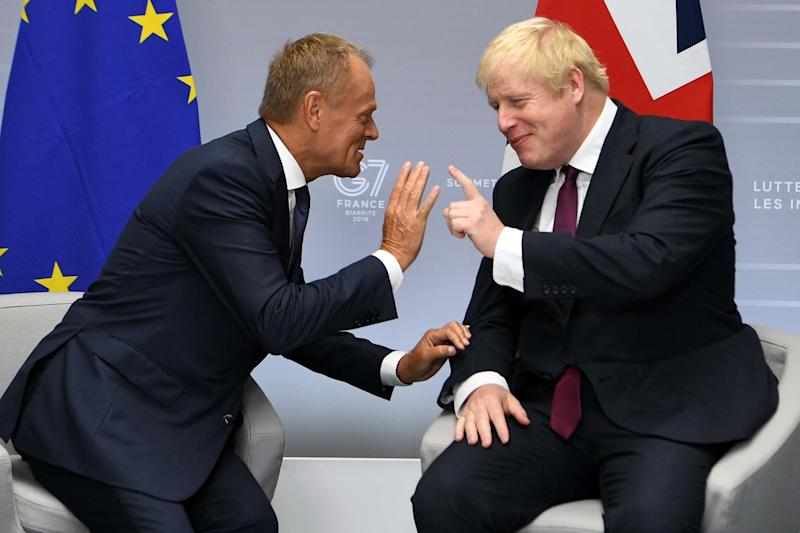Prime Minister, Boris Johnson meets with President of the European Council, Donald Tusk (Getty Images)