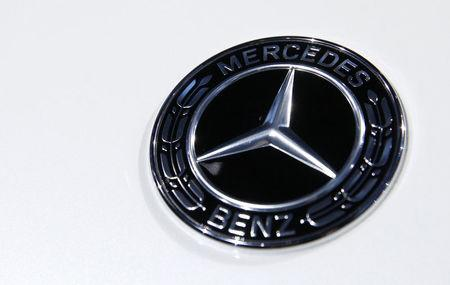 FILE PHOTO: The Mercedes Benz logo is seen at the 2017 New York International Auto Show in New York