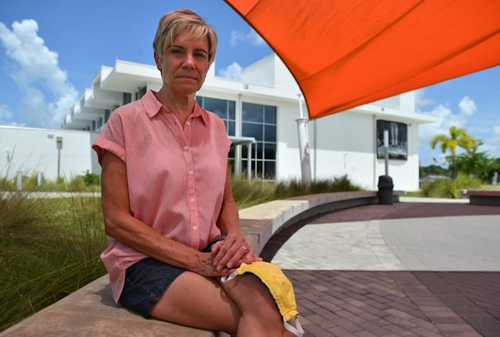 Christy Karwatt is a social studies teacher at Sarasota High School. She is 62 years old and nervous about returning to school in August.