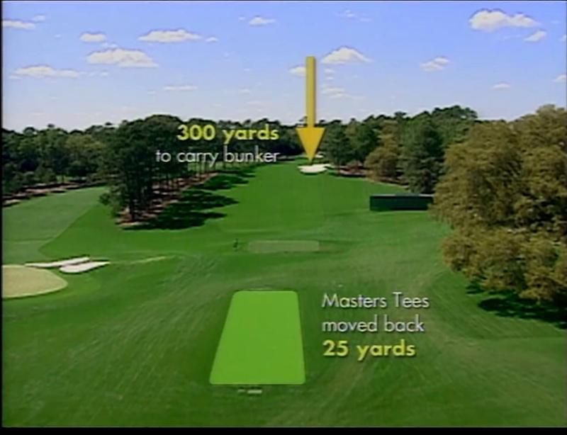 Illustrating the changes at the first tee, prior to the 2002 tournament.
