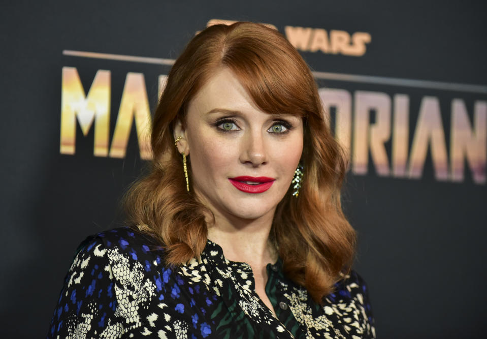 "Bryce Dallas Howard attends the premiere of Disney+'s ""The Mandalorian"" on November 13, 2019. (Photo by Rodin Eckenroth/FilmMagic)"