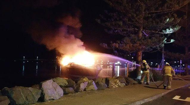 Four people escaped before the boat caught fire. Source: Prime 7