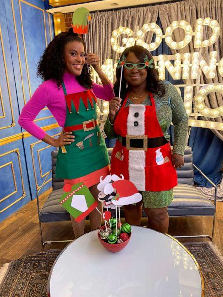 PHOTO: 'Disney Family Sundays' host and DIY expert Amber Kemp-Gerstel and baker Daneshia Lynch of DrunkN Shots stopped by 'GMA' for the Christmas Day 2019 episode to share holiday hacks. (ABC News)