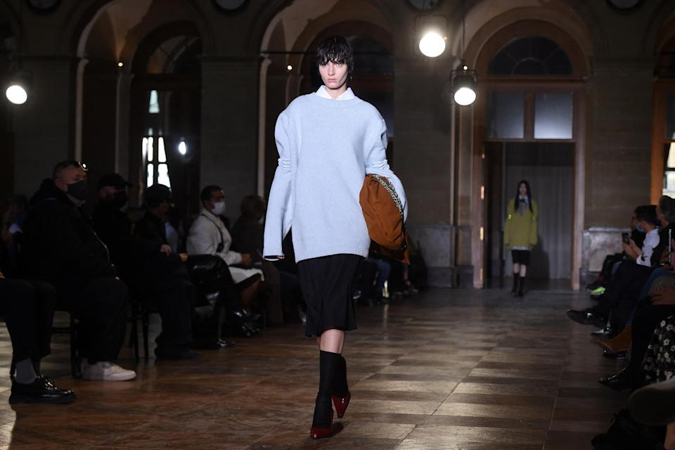Raf Simons presented gender fluid looks during the recent Paris Fashion Week.