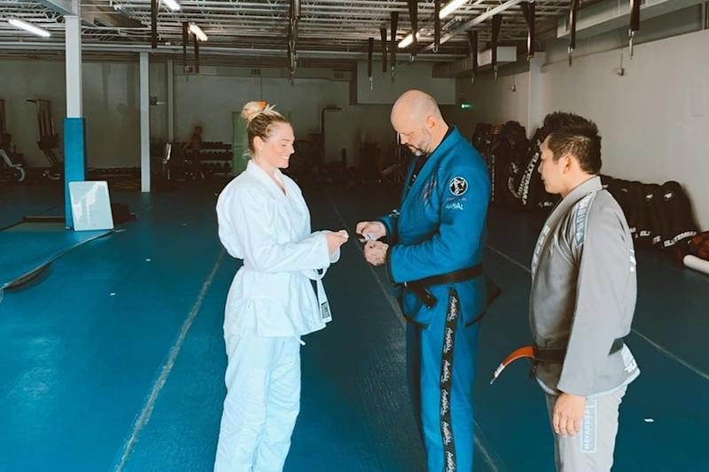 Kate Upton Gets First Stripe on Her Jiu-Jitsu White Belt