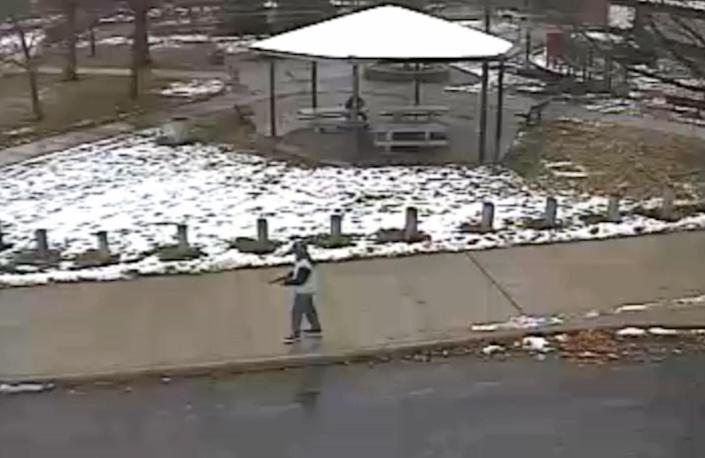 This grab from a surveillance video released by the Cleveland Police Department on November 26, 2014 shows 12-year-old Tamir Rice, who was shot by a Cleveland police officer (AFP Photo/)
