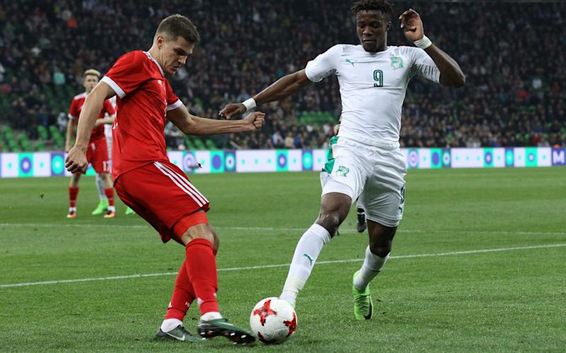 Wilfired Zaha in action for the Ivory coast - AFP