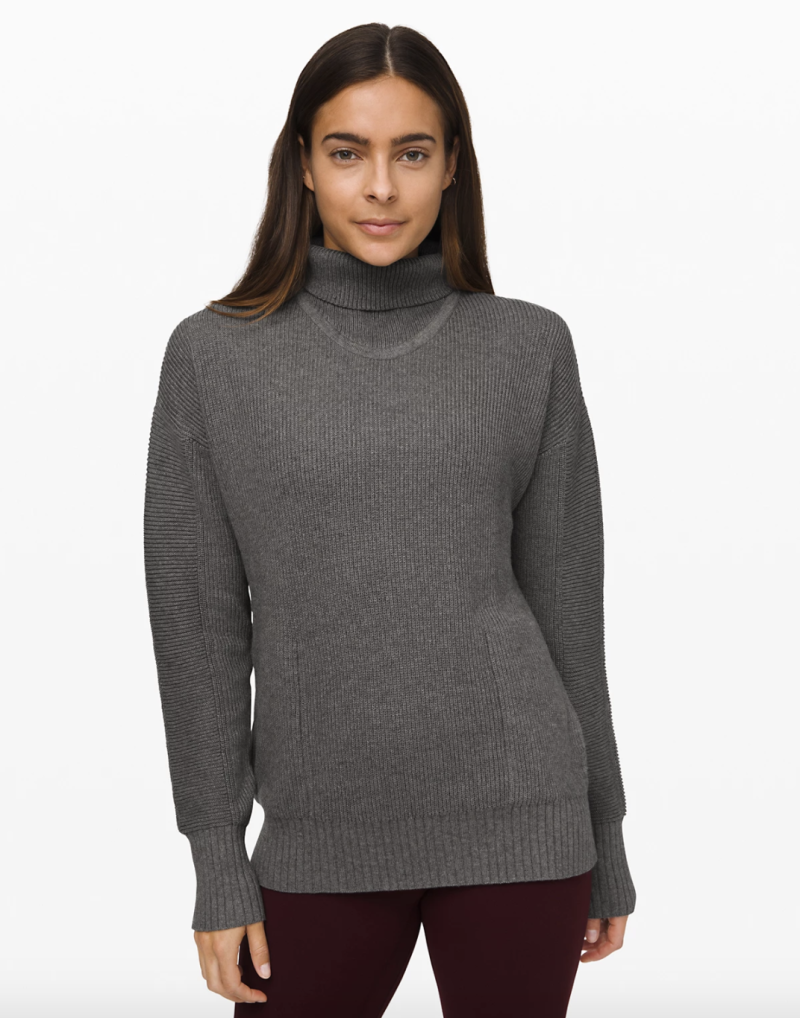 Cozy Calling Turtleneck in heathered core