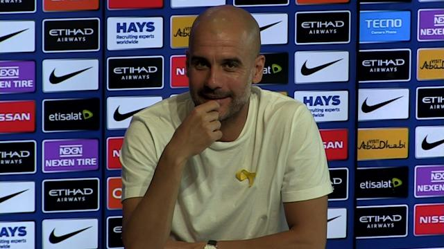 Manchester City manager Pep Guardiola pre match press conference v Swansea - SUBJECT: Swansea