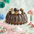 """<p>This impressive showstopper of a <a href=""""https://www.goodhousekeeping.com/uk/food/a559688/12-things-youre-doing-wrong-when-baking-a-cake/"""" rel=""""nofollow noopener"""" target=""""_blank"""" data-ylk=""""slk:cake"""" class=""""link rapid-noclick-resp"""">cake</a> is the perfect centrepiece for an <a href=""""https://www.goodhousekeeping.com/uk/easter/easter-recipes/g538612/best-easter-recipes/"""" rel=""""nofollow noopener"""" target=""""_blank"""" data-ylk=""""slk:Easter"""" class=""""link rapid-noclick-resp"""">Easter</a> dinner table. A light and fluffy sponge is covered in a rich <a href=""""https://www.goodhousekeeping.com/uk/food/g538611/chocolate-cake-recipes/"""" rel=""""nofollow noopener"""" target=""""_blank"""" data-ylk=""""slk:chocolate"""" class=""""link rapid-noclick-resp"""">chocolate</a> ganache and decorated with our <a href=""""https://www.goodhousekeeping.com/uk/food/recipes/a33323557/chocolate-coffee-truffles/"""" rel=""""nofollow noopener"""" target=""""_blank"""" data-ylk=""""slk:chocolate coffee truffles"""" class=""""link rapid-noclick-resp"""">chocolate coffee truffles</a>. A luxurious bundt to kick off any Easter celebration! </p><p><strong>Recipe: <a href=""""https://www.goodhousekeeping.com/uk/food/recipes/a32731222/chocolate-bundt/"""" rel=""""nofollow noopener"""" target=""""_blank"""" data-ylk=""""slk:Chocolate Bundt"""" class=""""link rapid-noclick-resp"""">Chocolate Bundt</a></strong></p>"""