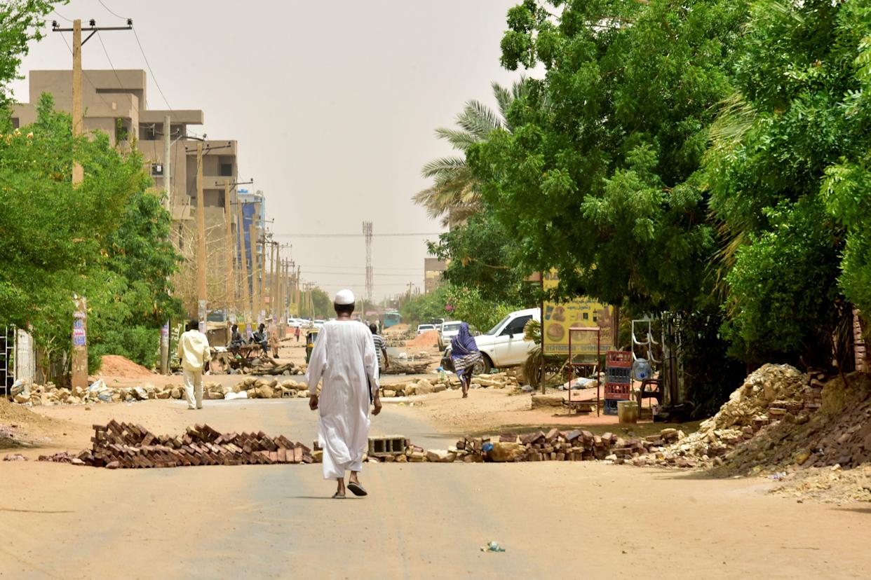 Much of Khartoum is under the control of the Rapid Support Forces (RSF), while the internet is shut down across the country. (Photo: AFP/Getty Images)