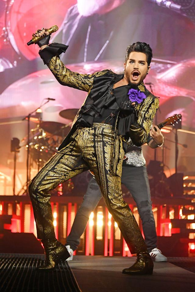 """""""I was <a href=""""https://people.com/music/adam-lambert-was-really-overwhelmed-american-idol-fame/"""">really overwhelmed</a> in the very beginning. <em>American Idol</em> was so fast. All of a sudden I was on magazine covers. I was dealing with the personal adjustment I had to make, and then on top of it, there was all this energy behind being the gay guy doing it. I knew I was comfortable saying, 'Yes, I'm gay.' But educating the masses? I didn't get into this business to be an educator. I just wanted to wear glitter and sing."""""""