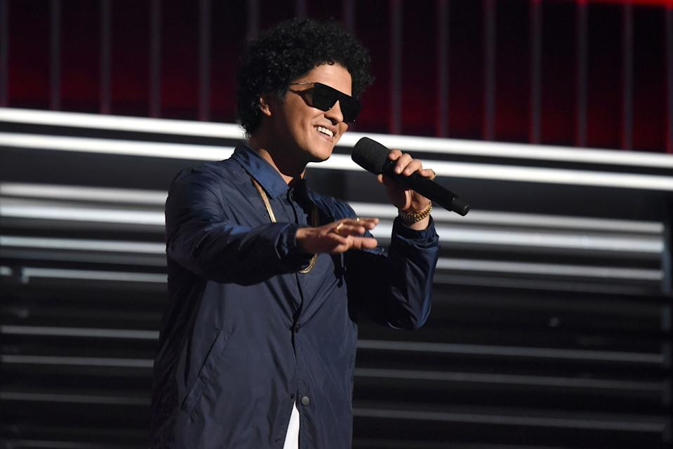 Bruno Mars at the Billboard Music Awards in 2018. (Photo by: Brian Friedman/NBCU Photo Bank/NBCUniversal via Getty Images via Getty Images)