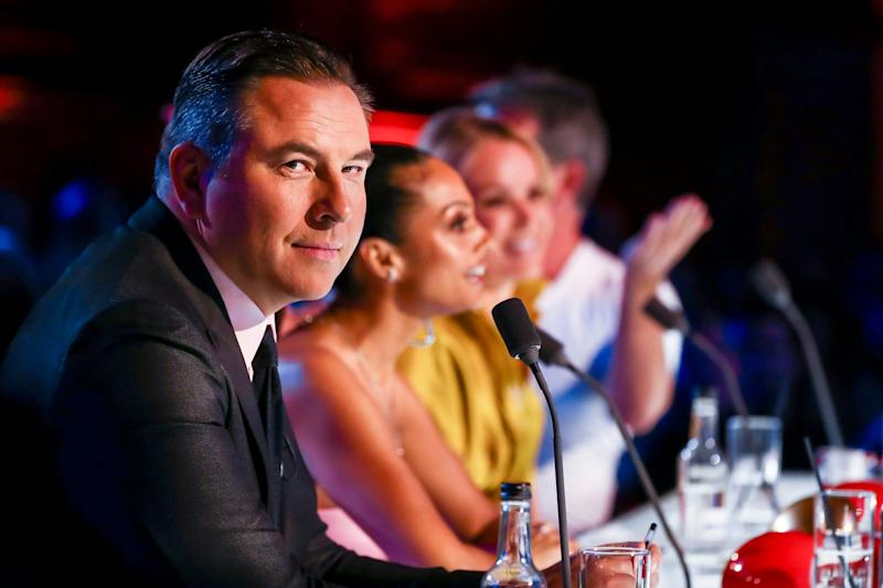 Amused: The judges were 'in stitches' after the act revealed their identities (Syco / Thames)