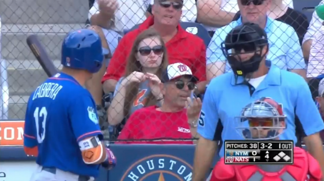 Asdrubal Cabrera had some words with Angel Hernandez on Thursday. (MLB.com screenshot)