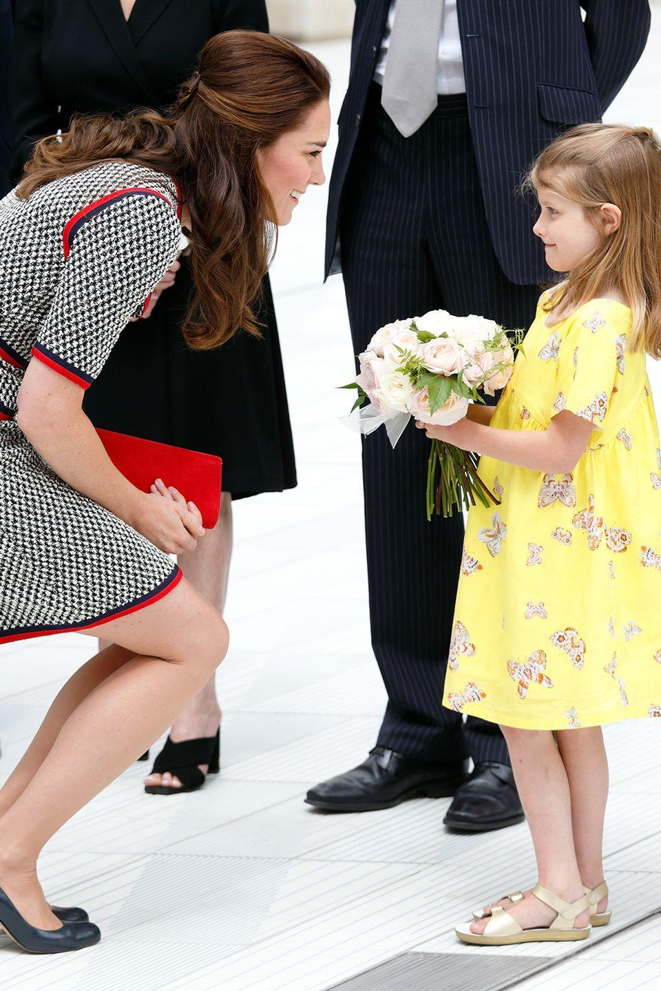 """<p>""""When you see Kate kneeling to talk to someone, it is very reminiscent of Diana—throughout her life,"""" <a href=""""https://abcnews.go.com/International/rebel-royal-mum-dianas-legacy-parent/story?id=19241646"""" rel=""""nofollow noopener"""" target=""""_blank"""" data-ylk=""""slk:Seward added"""" class=""""link rapid-noclick-resp"""">Seward added</a>. </p>"""