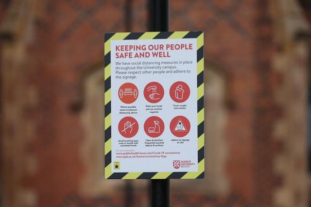A sign outside Queen's University in Belfast (Liam McBurney/PA)