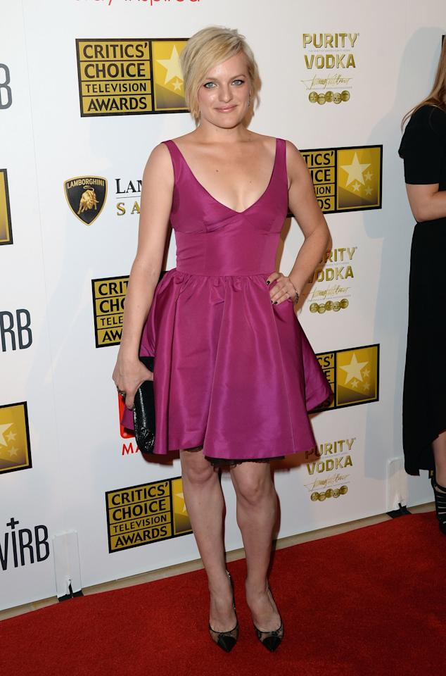 LOS ANGELES, CA - JUNE 10:  Actress Elisabeth Moss arrives at Broadcast Television Journalists Association's third annual Critics' Choice Television Awards at The Beverly Hilton Hotel on June 10, 2013 in Los Angeles, California.  (Photo by Jason Merritt/Getty Images)