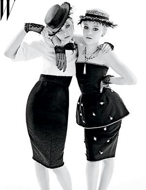 Elle, 13, and Dakota, 17. Mario Sorrenti/W
