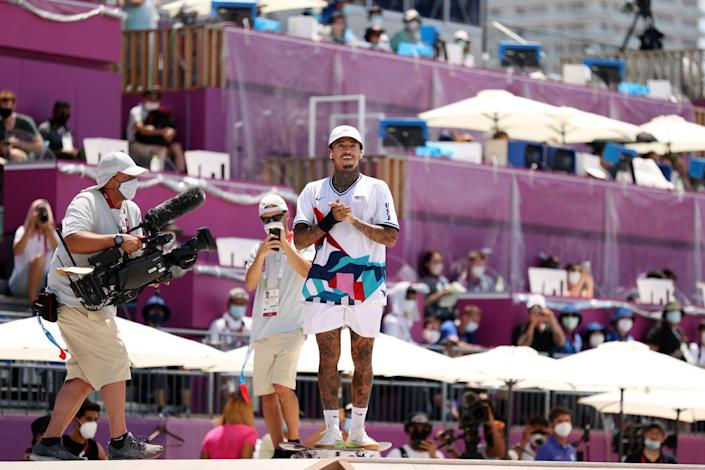 """<p>""""The atmosphere has been hard definitely,"""" skateboader Huston said. """"Even though I skate with headphones on out there, I normally feed off the energy of the crowd. It's really unfortunate that there's no fans here.""""</p>"""