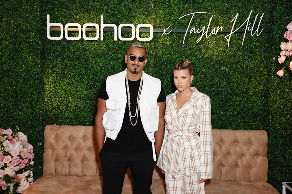 MALIBU, CALIFORNIA - OCTOBER 13: (L-R) Umar Kamani and Sofia Richie attend boohoo x Taylor Hill Tea Party at The Beverly Hills Hotel on October 13, 2019 in Beverly Hills, California. (Photo by Presley Ann/Getty Images for boohoo.com)