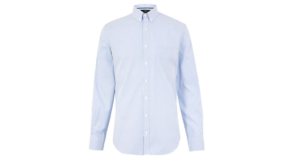 Tailored Fit Easy Iron Bengal Striped Shirt