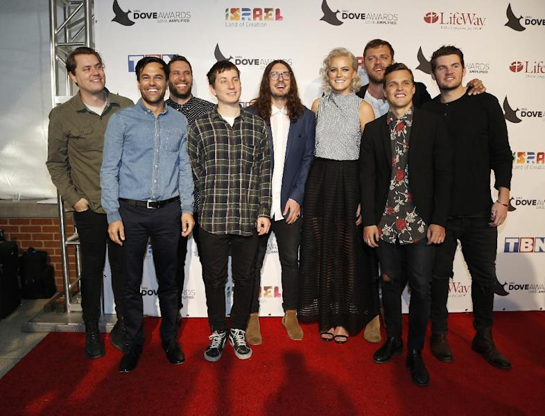 Hillsong United at the 47th Annual GMA Dove Awards at Lipscomb University's Allen Arena on Tuesday, Oct. 11, 2016, Nashville, Tenn. (Photo by Donn Jones/Invision/AP)