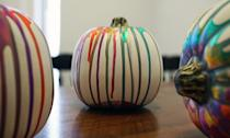 """<p>Let the paint dry overnight, and decorate your home! These marbled pumpkins are pretty sturdy, so if you store them carefully, you should be able to pull them out year after year for some colorful <a class=""""link rapid-noclick-resp"""" href=""""https://www.popsugar.com/Halloween"""" rel=""""nofollow noopener"""" target=""""_blank"""" data-ylk=""""slk:Halloween"""">Halloween</a> decoration. </p>"""