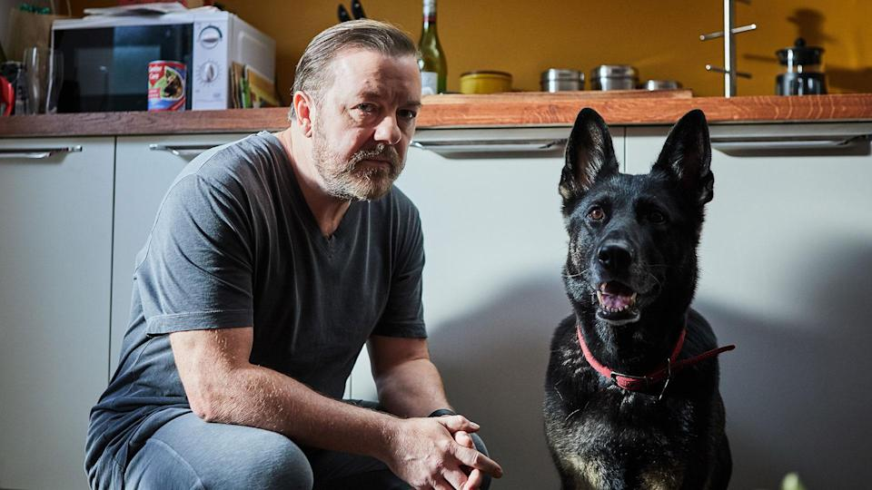 Ricky Gervais plays a bereaved widower with a unique take on humanity in <i>After Life</i>. (Natalie Seery/Netflix)