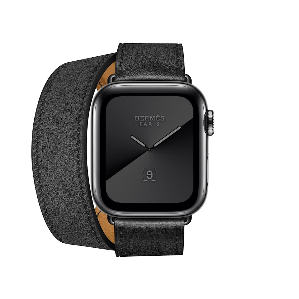 Apple Watch Hermes Series 5 40mm double tour band in calfskin. (PHOTO: HERMES)
