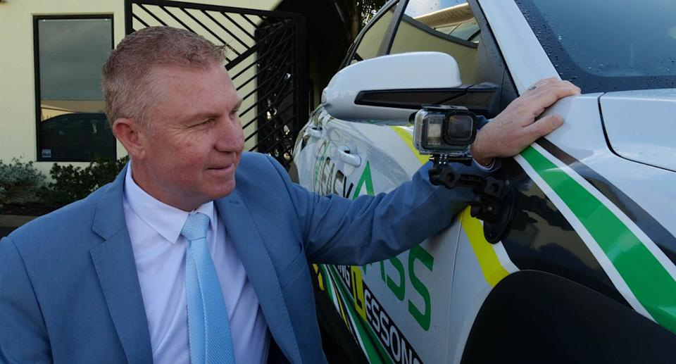 South West MP James Hayward is calling on the WA State Government to introduce a trial of cameras during driving tests. Source: Supplied